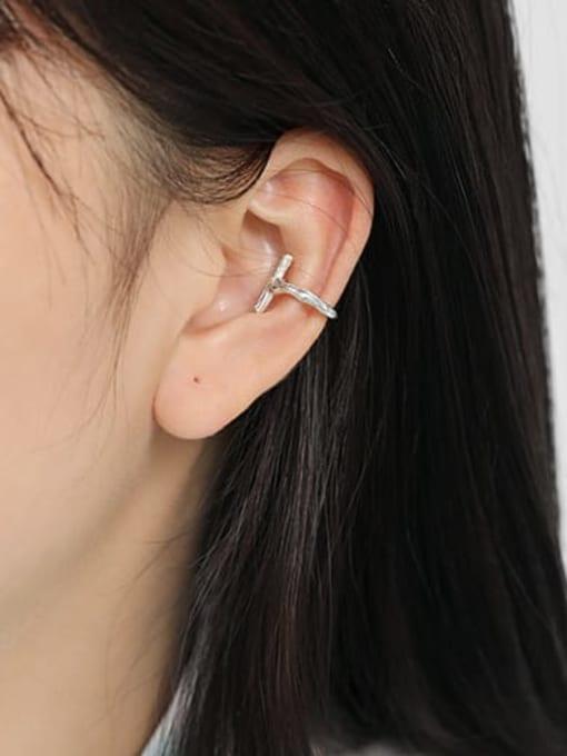 Dak Phoenix 925 Sterling Silver Cross Minimalist Stud Earring[Single] 2